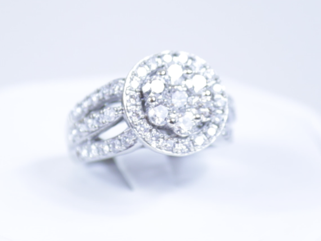 Bright and shiny diamond ring.
