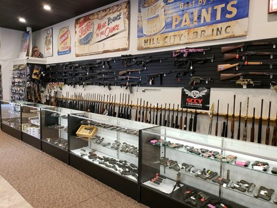 Presidential Pawn's massive inventory of guns, rifles, pistols, and more.
